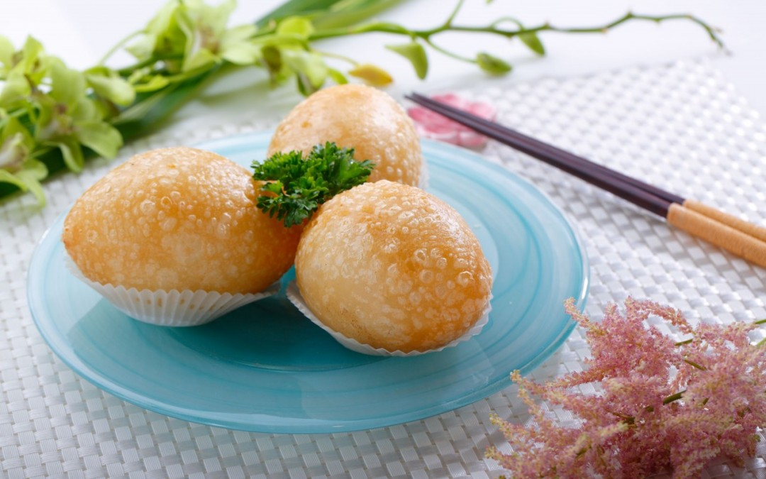 安蝦咸水角  Deep Fried Stuff Pork Dumplings